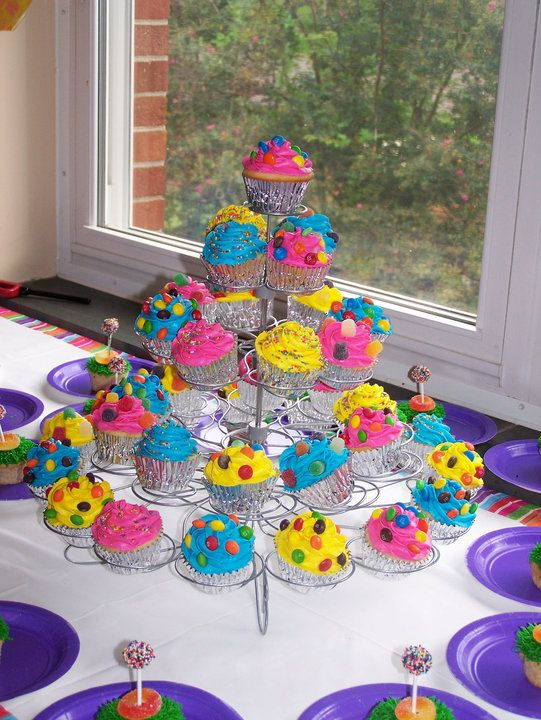 Cake Decorated With Gumdrop Flowers