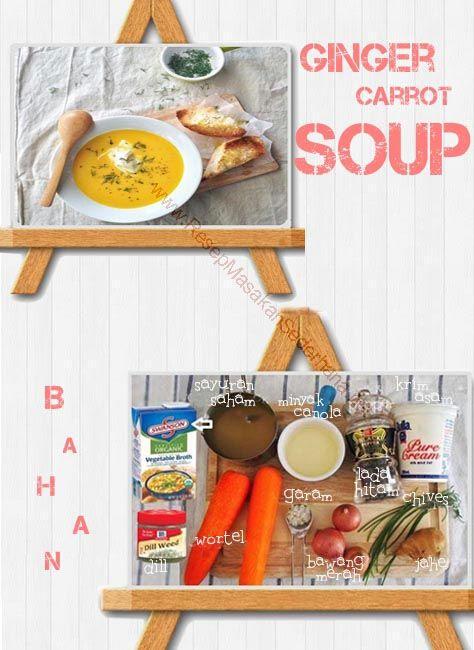 Resep sup - Ginger Carrot Soup  Bahan : • 2 Sdm minyak canola • 3 bawang merah kecil, kupas dan cincang • 1 1/3 cangkir sayuran saham • 2 wortel besar, kupas dan iris • 2 sendok makan jahe segar, cincang • garam • Lada hitam • Cream murni atau krim asam  • Chives • Dill  NB : website (http://ResepMasakanSederhana.net/) kami dalam proses pembuatan  #resep#masakan#sederhana#unik#unique#enak#recipes#food#wotel#pepper#salt#oil#cream#soup#sup