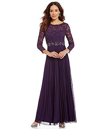 Cachet Beaded Lace Bodice Gown #Dillards