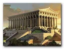 Il Tempio di Artemide (meno comunemente chiamata anche Diana) a Efeso. La realizzazione del tempio durò 120 anni. Si pensa che esso sia stato costruito sotto il domino di Creso ma alcuni studi ritengono che questo tempio sia datato ancor prima, circa nel VIII sec a.C. e che inizialmente fosse un periptero e solo successivamente per ordine di Creso fu costruita la base centrale dando al tempio la forma di un diptero. (continuo la descrizione nei commenti causa troppi caratteri)