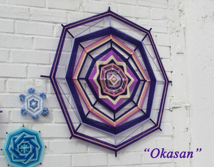 Mandala de 1 metro de Diametro, ideal para colocarlo en la cabecera de nuestra cama o en el espacio que desees de tu hogar o lugar de trabajo. A la venta <3  Web : www.okasan.cl  Stgo-Chile