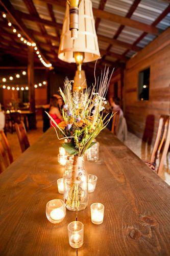 barn wedding in georgia at vinewood wedding table toppersrustic