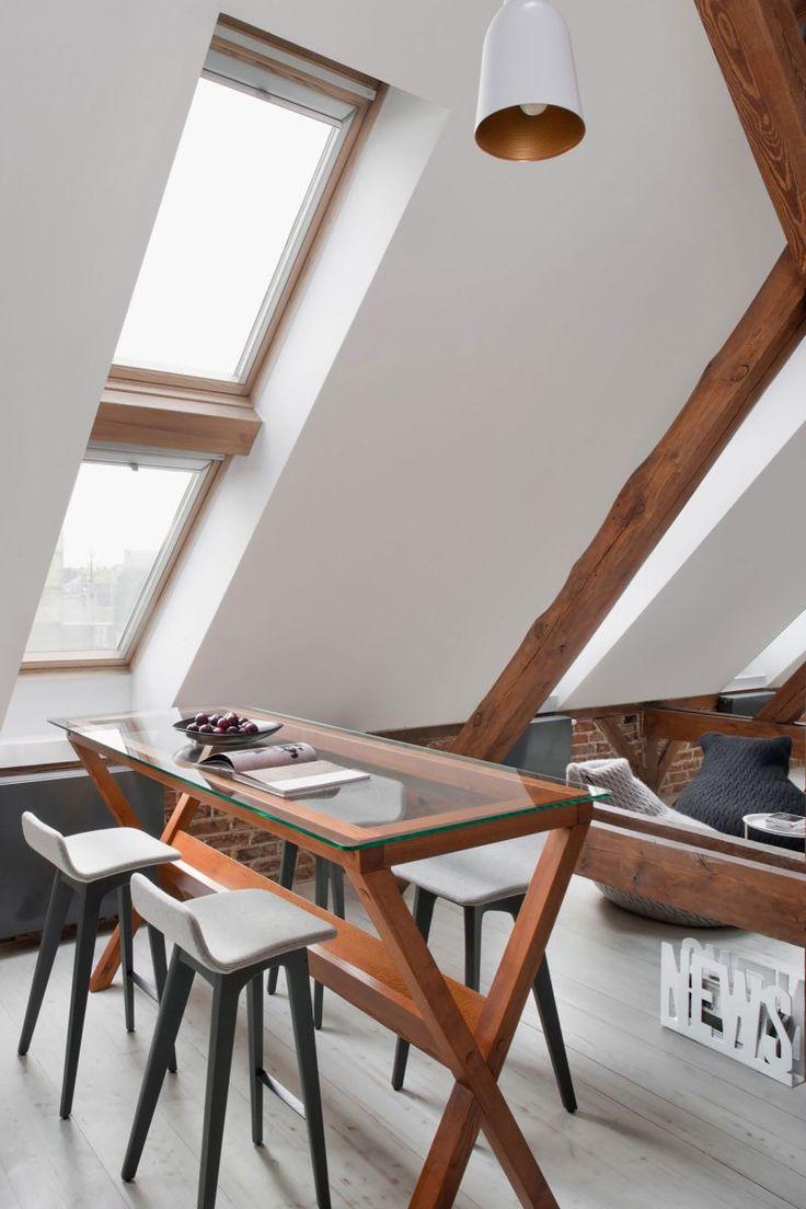 Velux dans un genier aménagé en loft