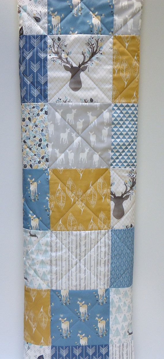 Crib Quilt-Baby Boy Quilt-Rustic Woodland Crib by NowandThenQuilts