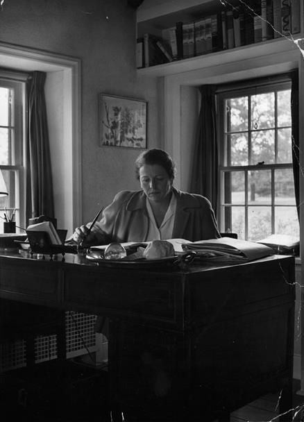 """In a mood of faith and hope my work goes on. A ream of fresh paper lies on my desk waiting for the next book. I am a writer and I take up my pen to write.""    -Pearl Buck (June 26, 1892 – March 6, 1973) also known by her Chinese name Sai Zhenzhju, was an American writer who spent most of her time until 1934 in China. She is especially known for her book ""The Good Earth"""