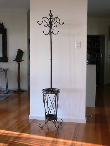 FRENCH STYLE COAT/HAT/UMBRELLA STAND WROUGHT IRON  NEW