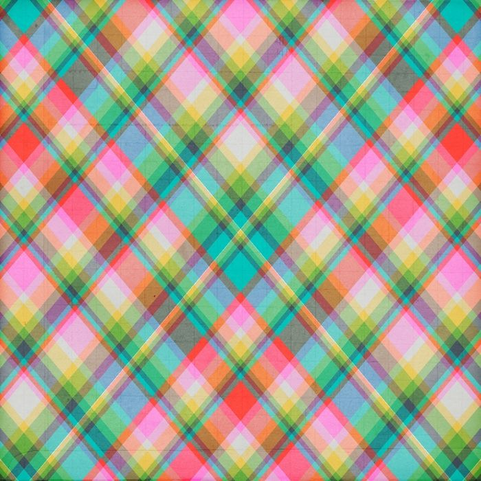 Iphone X Frame Wallpaper Colorful Plaid Background In 2019 Pink Polka Dots