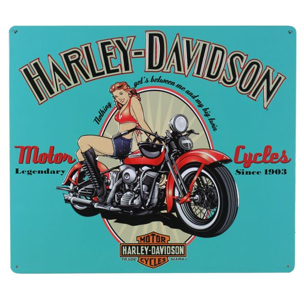 Harley Davidson Legendary Girl Tin Sign