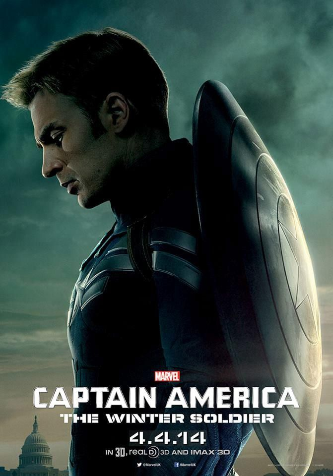 New CAPTAIN AMERICA: THE WINTER SOLDIER Character Posters - Captain America (Chris Evans)