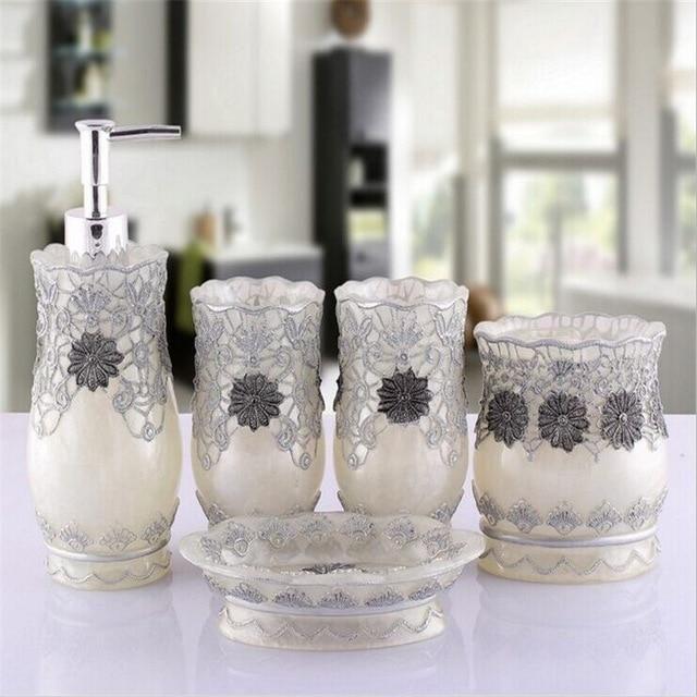 Silver Designer Bathroom Accessories Set Bathroom Accessories