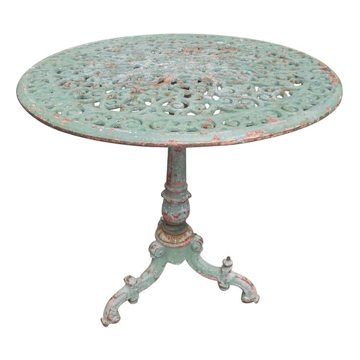 C. Italian Cast Iron Garden Table