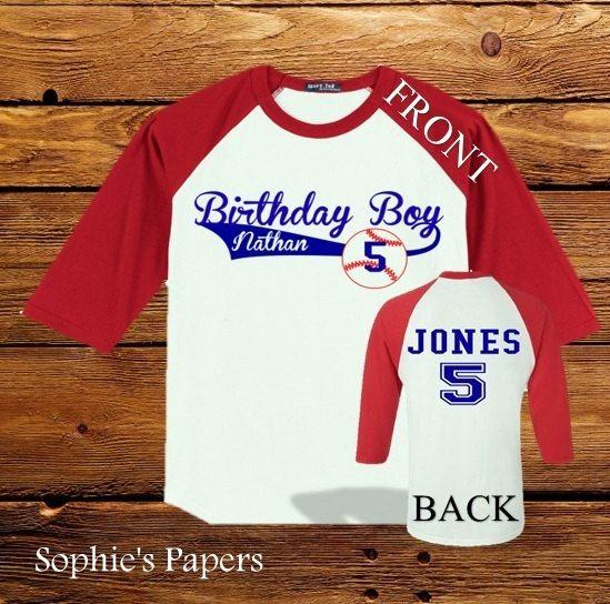First Birthday Boy Personalized Raglan Sleeve Baseball T-Shirt, Baseball Birthday Party Shirt, Baseball Theme, Baseball Party  // would be a great bday party shirt for josiah