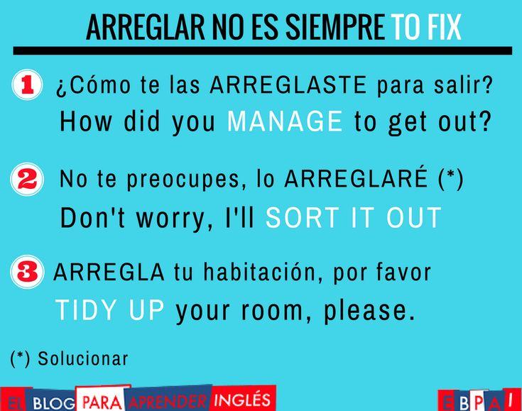 """monicatstocker on Twitter: """"ARREGLAR no es siempre TO FIX #arreglareningles https://t.co/2xsToc8tBb"""""""