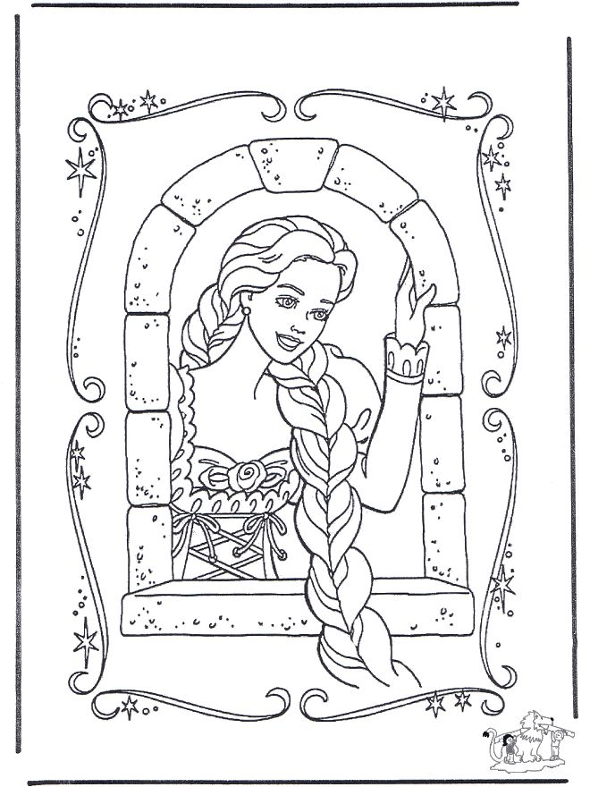 23 Best Coloring Pages 10 Rapunzel Images On Pinterest
