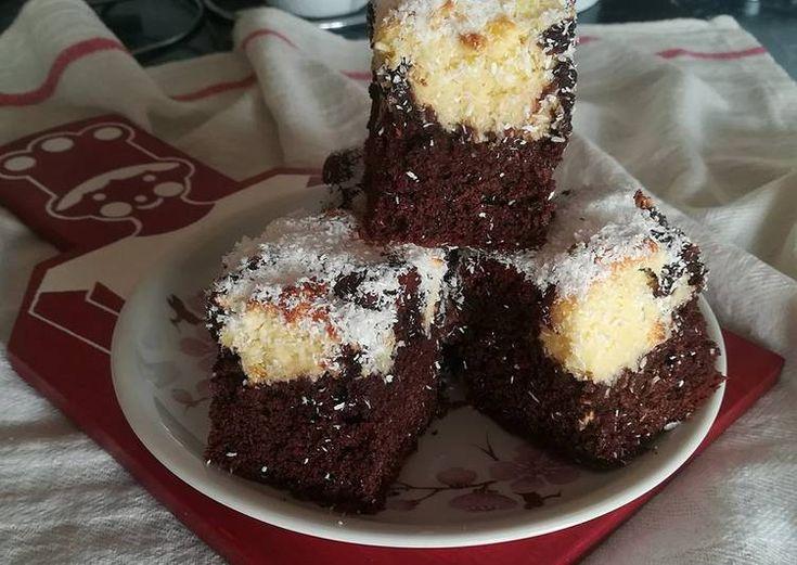 Kakaós-kókuszos kevert süti