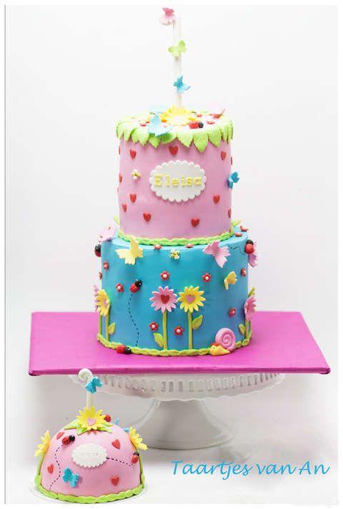 Taartjes-van-An-verjaardag-meisje-taart-en-mepper.jpg  girly cake first brithday