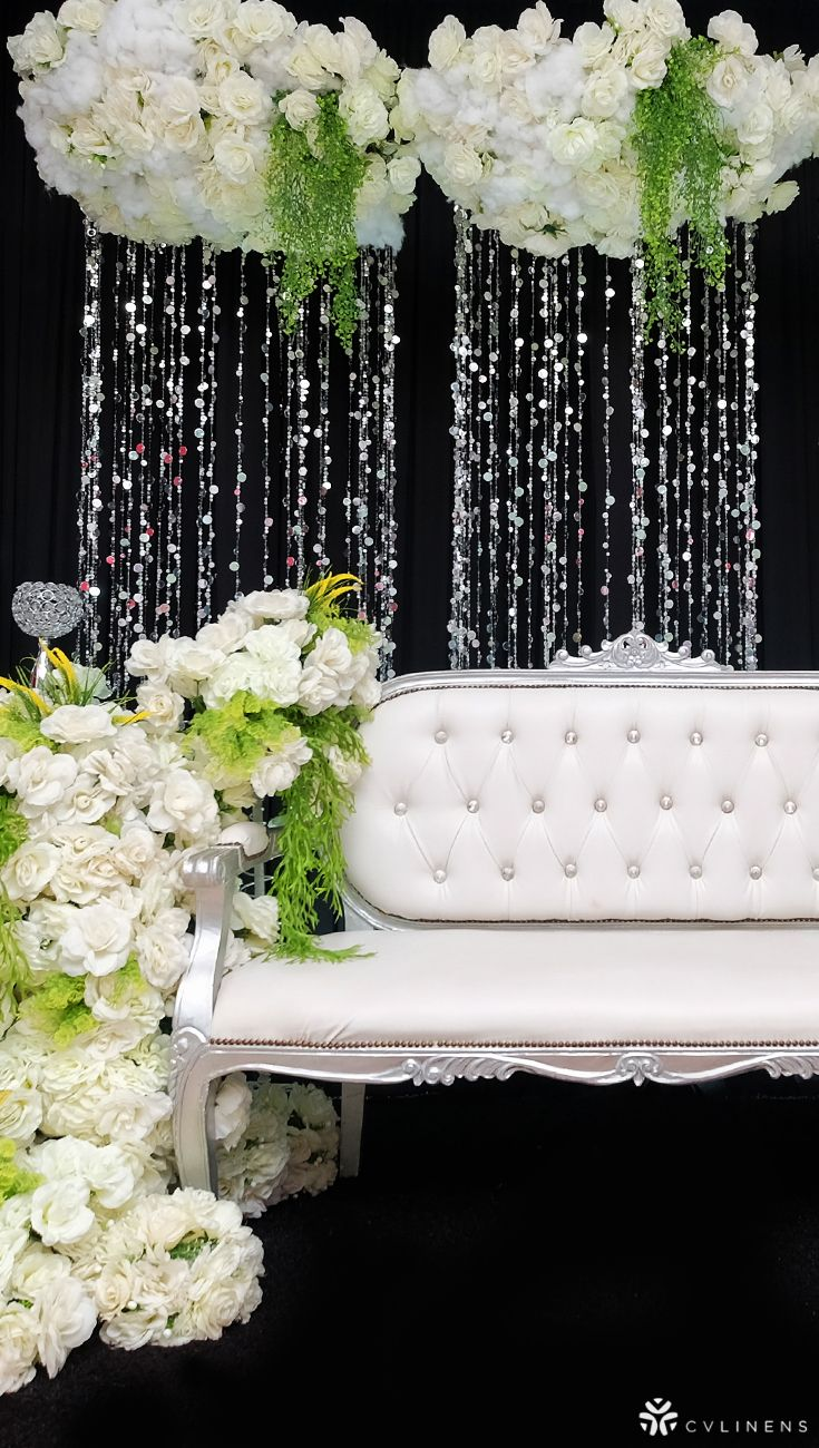 Sweetheart Table Sitting Area For Weddings Or Bridal Showers With