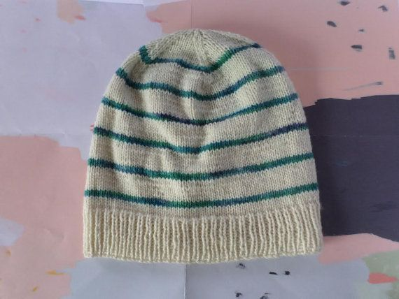 Luxury striped Stockholm beanie, slouchy unisex winter hat knitted from super soft 100% pure New Zealand merino wool. Handmade in New Zealand by Cornflake Purl.