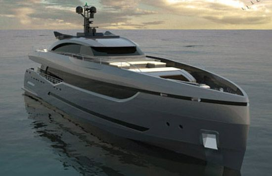 Columbus Sport Hybrid superyacht gets ready for its delivery to its Russian owner