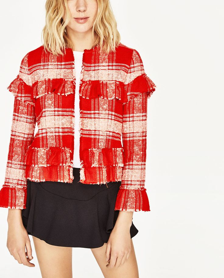 SHORT CARDIGAN WITH FRILLS-NEW IN-WOMAN | ZARA United States