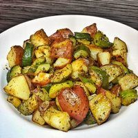 Roasted Zucchini and Red Potatoes Recipe - Allthecooks.com