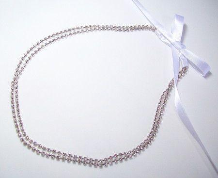 tiara de noivas em strass prata