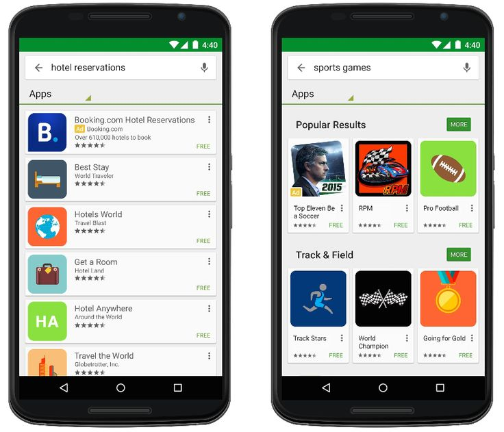 App install ads in Google Play.