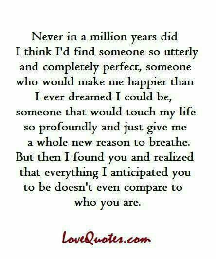 This is so perfectly put.  You are everything I hoped and dreamed for... and more.