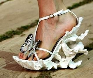 The butterfly interpreted in footwear as only Alexander McQueen can do it!