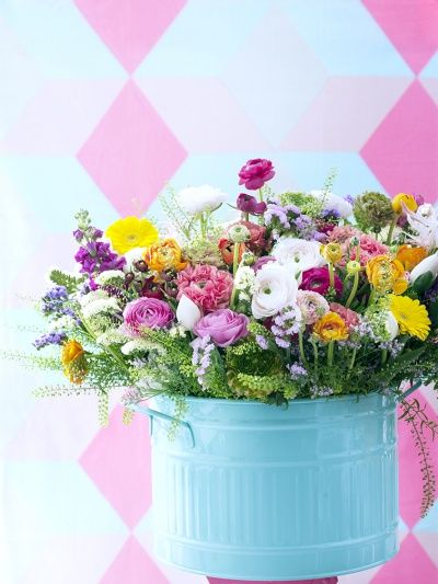 Holex Insights newsletter week 10 - Inspiration for a Ranunculus arrangement complete with tulip & nerine