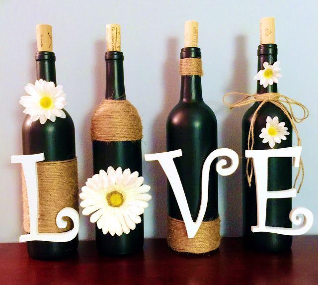 DIY: Wine Bottle Decoration