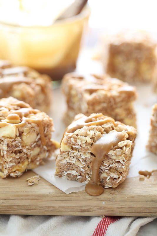 Apple and Oatmeal Rice Krispie Treats Recipe | foodiecrush.com
