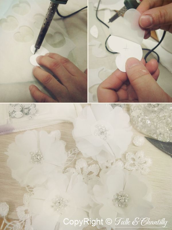 {Process Show Time} Hand-made Chiffon Bridal Dress | http://www.tulleandchantilly.com/blog/process-show-time-hand-made-chiffon-bridal-dress/