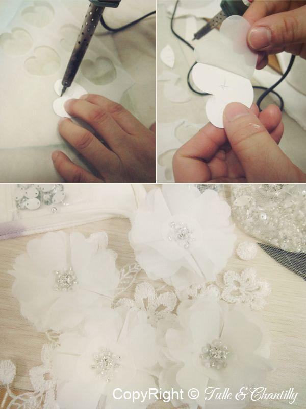 {Process Show Time} Hand-made Chiffon Bridal Dress   http://www.tulleandchantilly.com/blog/process-show-time-hand-made-chiffon-bridal-dress/