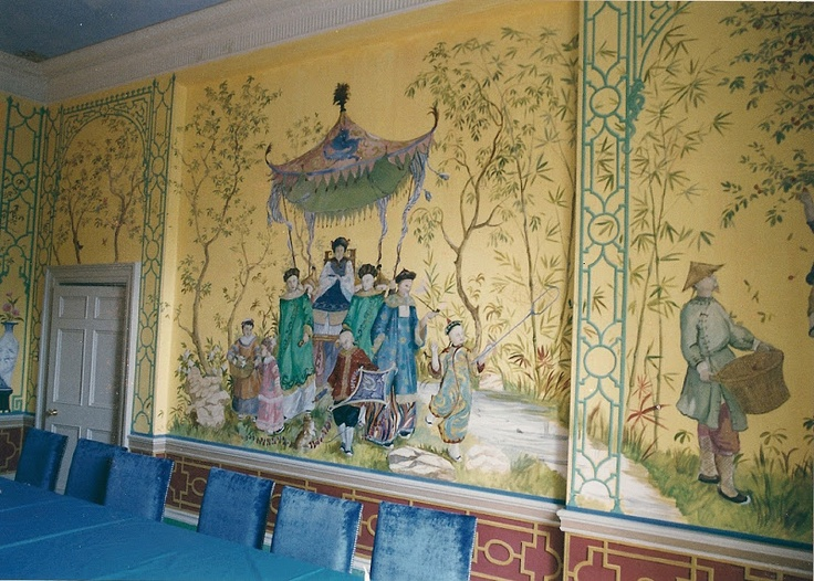17 best images about chinoiserie on pinterest hard at for Chinoiserie mural wallpaper