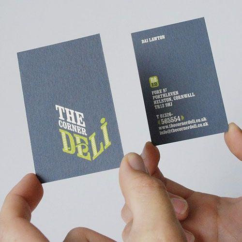 117 best visitekaartjes images on pinterest business cards the corner deli business card reheart Images