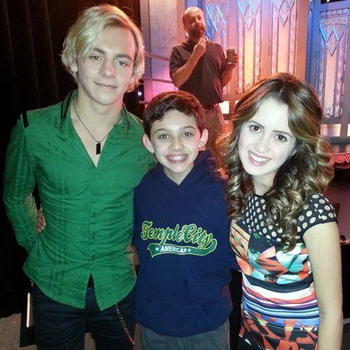 Photo Felix Avitia With Ross Lynch & Laura Marano April