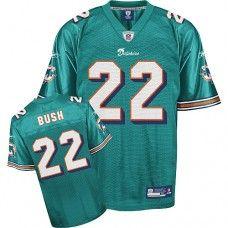 Dolphins #22 Reggie Bush Green Team Color Stitched NFL Jerseys
