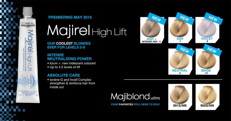 L39Oral Professionnel Majirel High Lift 5 NEW Shades Premiering May 2015