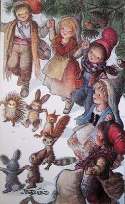 Christmas card by Juan Ferrandiz (1970s)