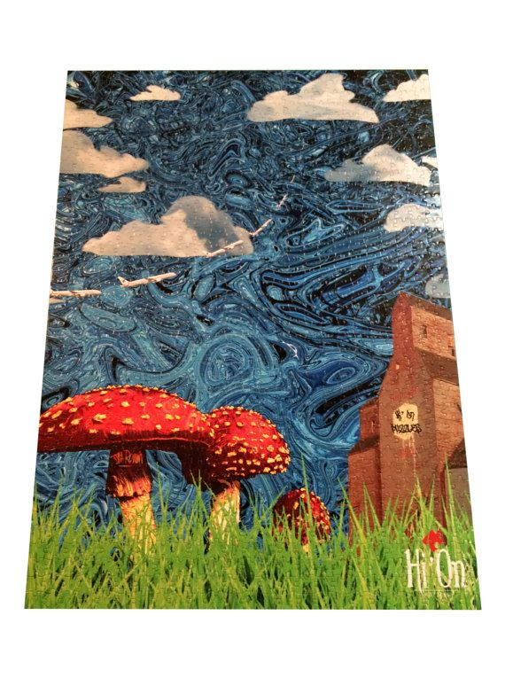 Prairie Mushroom Trip Jigsaw Puzzle  Hi' On Puzzles by HiOnPuzzles