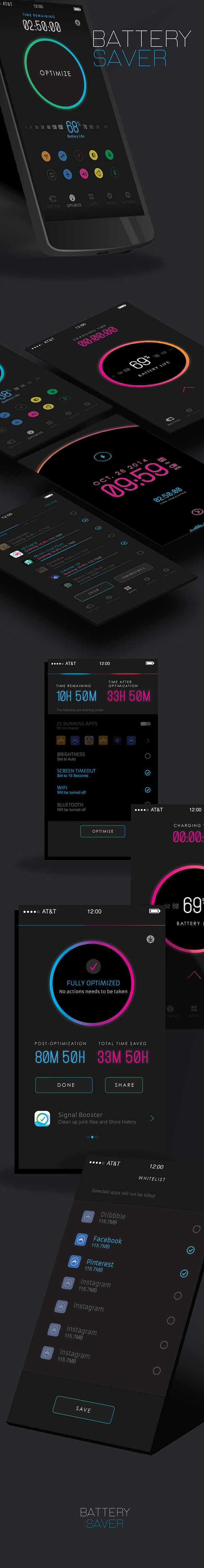 Battery saver #app #mobile #design #ux #ui. http://app-unit.ru/contacts.html