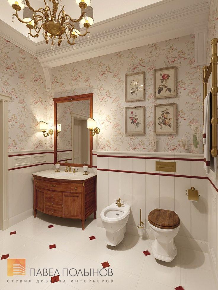 Фото: Ванная комната родителей - Интерьер загородного дома в стиле легкой классики, КП «Альпино», 430 кв.м.