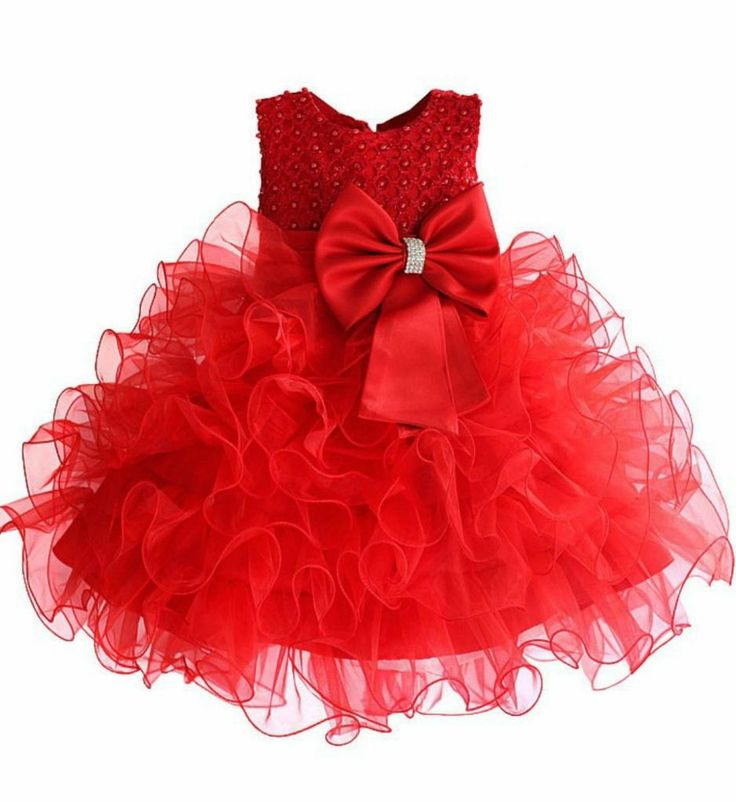 Pearl Applique Dress--Beautiful Round Neckline Sleeveless Knee Length Bow Front Tiered Infant Toddler Little Girl Pearl Applique Party Dress. Perfect dress for Christmas, birthday party, wedding or any occasion. Available from 2-7 years. Material: Cotton, tulle mesh, polyester fiber. Color: Red, Fuchsia & Purple. Please do compare your  little girl measurements with our size chart.