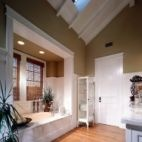 LOVE the added moulding around the tub nook!  Bathroom Storage Design, Pictures, Remodel, Decor and Ideas - page 8
