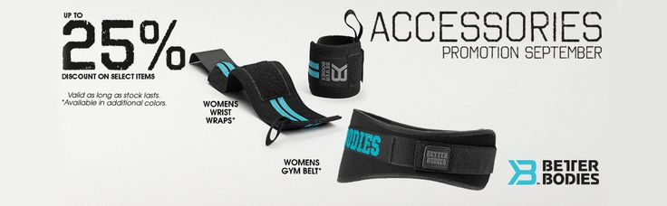 We have a great range of womens accessories this month! Ends on the 30th September! https://www.globalgymwear.com/