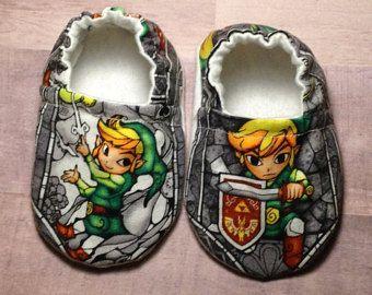 Zapatos de bebé de Zelda, Zelda bebé, zapatos de bebé, zapatos de bebé de niño, regalos de bebé, botitas de bebé, Baby Moccs, cuna zapatos, zapatos de bebé suaves, bebé