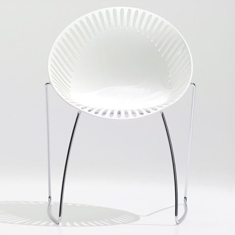 ORBShell in technopolymer Standard with cushion, available in black or whiteCommercials Design, Monkeys Piece, Orb Chairs, Loewenstein Orb, Technopolym Standards, Side Seats, Offices Furniture, Heavens White