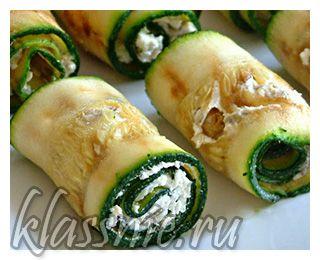 Рулетики из кабачков с творогом, чесноком и семечками подсолнечника | Классные вегетарианские рецепты