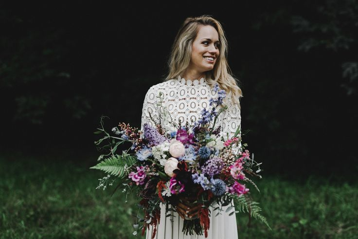 Purple and blue bridal bouquet | Image by Noelle Johnson